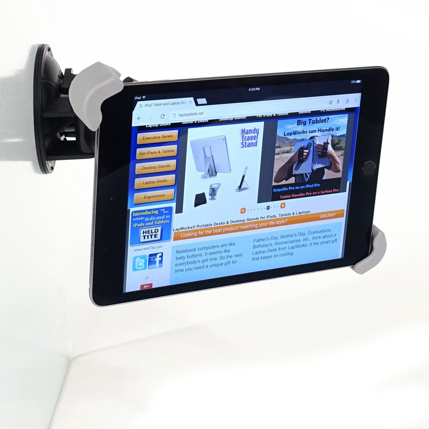 Ipad Tablet Suction Cup Glass Mount